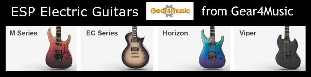 Massive range of ESP Electric guitars from LTD and E-11 series