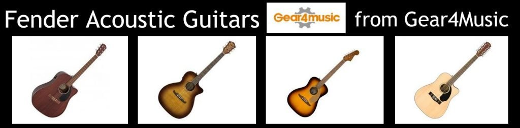 Wide range of Fender Acoustic guitars available from Gear4Music